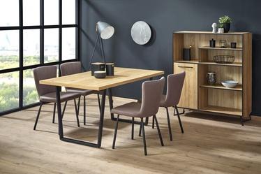 Обеденный стол Halmar Ulrich, черный/дубовый, 1600x900x750мм