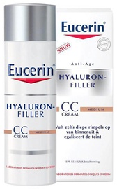 CC veido kremas Eucerin Hyaluron-Filler SPF15 Medium, 50 ml