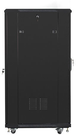 "Lanberg Rack Cabinet 19"" Free-Standing 27U/600x800 Self-Assembly Flat Pack Black"