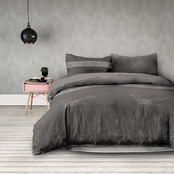 Gultas veļas komplekts AmeliaHome Basic, pelēka, 140x200/50x75 cm