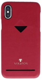 Vix&Fox Card Slot Back Shell For Apple iPhone XS Max Red