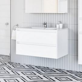 Шкаф для ванной Domoletti, белый, 45.8 x 91 см x 50 см