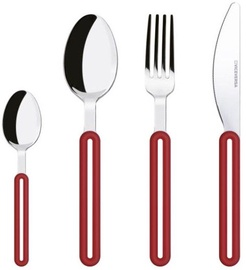 ViceVersa Offset Cutlery Set 24 Red