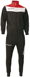 Givova Campo Tracksuit Black/Red 2XL