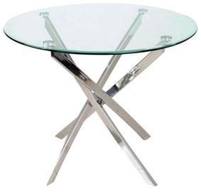 Обеденный стол Signal Meble Agis Transparent, 900x900x730 мм