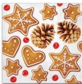 Paw Decor Collection Gingerbreads Napkins 33x33cm