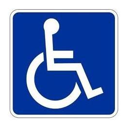 """Lipnusis ženklas """"Neįgalusis"""", 14 x 14 cm"""