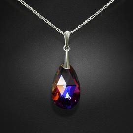 Diamond Sky Pendant Baroque Volcano With Crystals From Swarovski