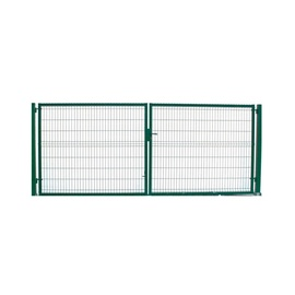 Garden Center Gate RAL6005 4000x1730mm Green