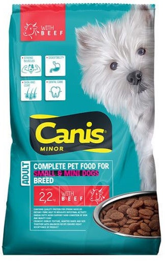 Canis Small Breed Dog Food With Beef 2.2kg