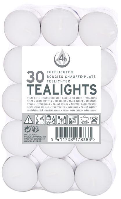 Spaas Tealights White 30pcs