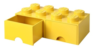 LEGO Storage Brick Drawer 8 Yellow