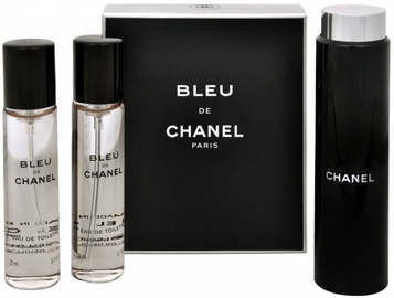 Tualetes ūdens Chanel Bleu de Chanel 3x20ml EDT Travel Spray