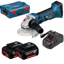 Bosch GWS 18-125 V-Li Cordless Angle Grinder with 2x5Ah Batteries