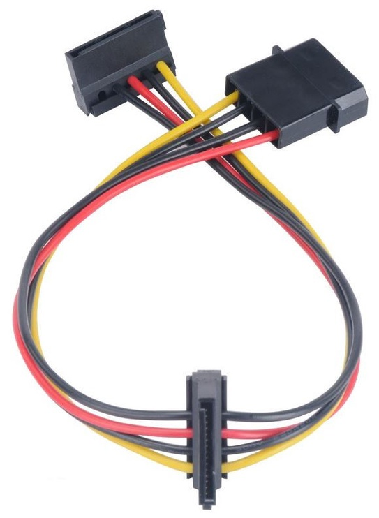 Akasa Adapter Molex to SATA x2 0.3m