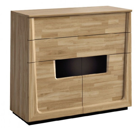 Mebin Maganda 2D2SZ Chest Of Drawers 121x51x107cm Natural Oak