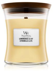 Ароматическая свеча WoodWick Lemongrass & Lily, 20 час