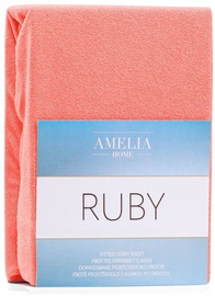 AmeliaHome Ruby Frote Bedsheet 80-90x200 Coral 46