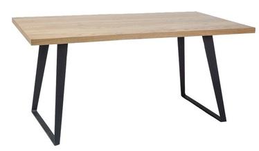 Pusdienu galds Signal Meble Falcon Oak/Black, 1500x900x770 mm