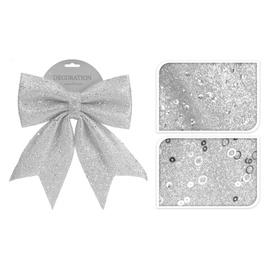 Kalėdinis kaspinas sidabrinis  CAA626710