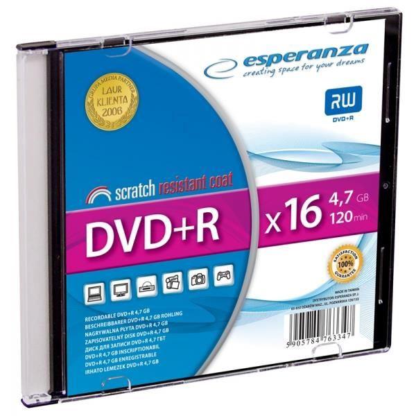Esperanza 1119 DVD+R 16x 4.7GB Slim Jewel Case 200pcs