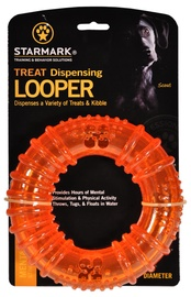 Starmark Treat Dispensing Looper M Orange