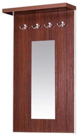Bodzio Clothes Hanger With Mirror Bodziosystem Walnut