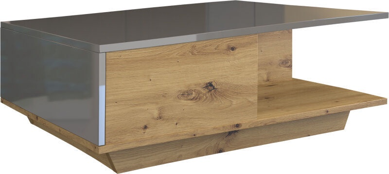 Kafijas galdiņš Top E Shop Denver Artisan Oak/Grey Gloss, 900x600x420 mm