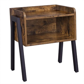 Naktinis staliukas Songmics, rudas/juodas, 42x35x52 cm