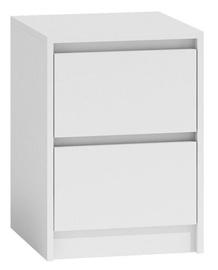 Naktinis staliukas Top E Shop K2 Karo, baltas, 40x43x55 cm