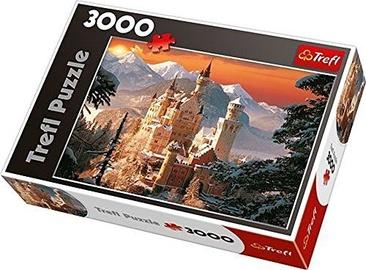Puzle Trefl Wintry Neuschwanstein Castle Germany 33025, 3000 gab.