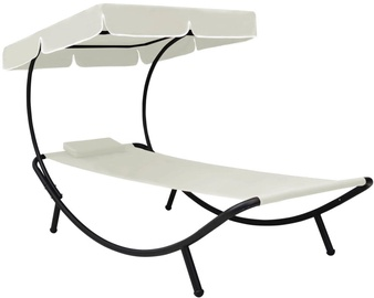 Lamamistool VLX Outdoor Lounge Bed With Canopy 48077, beež