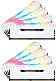 Corsair Vengeance RGB Pro White Series 64GB 2666MHz CL16 DDR4 KIT OF 8 CMW64GX4M8A2666C16W