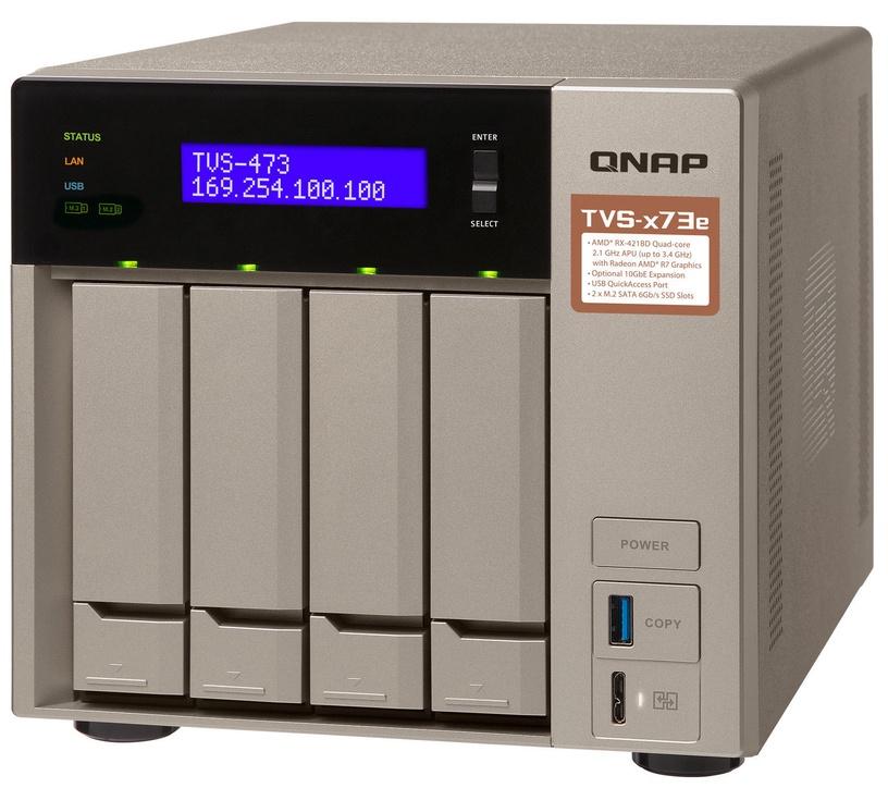 QNAP Systems TVS-473e-4G 4-Bay NAS 40TB
