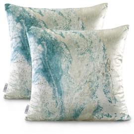 AmeliaHome Nancy Pillowcase 45x45 Blue/Beige 2pcs