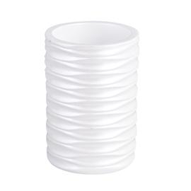 Stiklinė dantų šepetėliams Futura BPO-1432B, balta