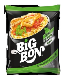 Makaronai, Big Bon, vištienos skonio su salsa padažu 75 g.