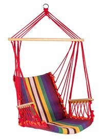 Home4you Hip Cotton Hanging Chair Red Stripes
