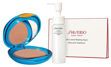 Shiseido UV Protective Compact Foundation SPF30 Medium Beige + Perfect Cleansing Oil + Oil Control Blotting Paper