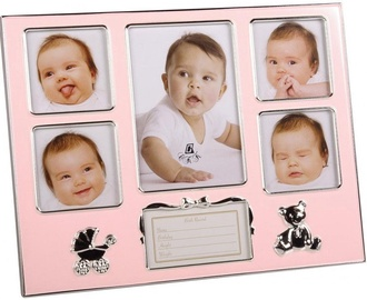 Poldom Photo Frame Baby Notes Pink
