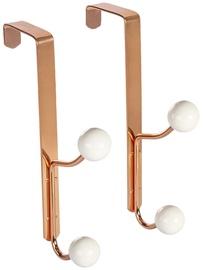 Home4you Metal Door Hangers 2pcs Copper