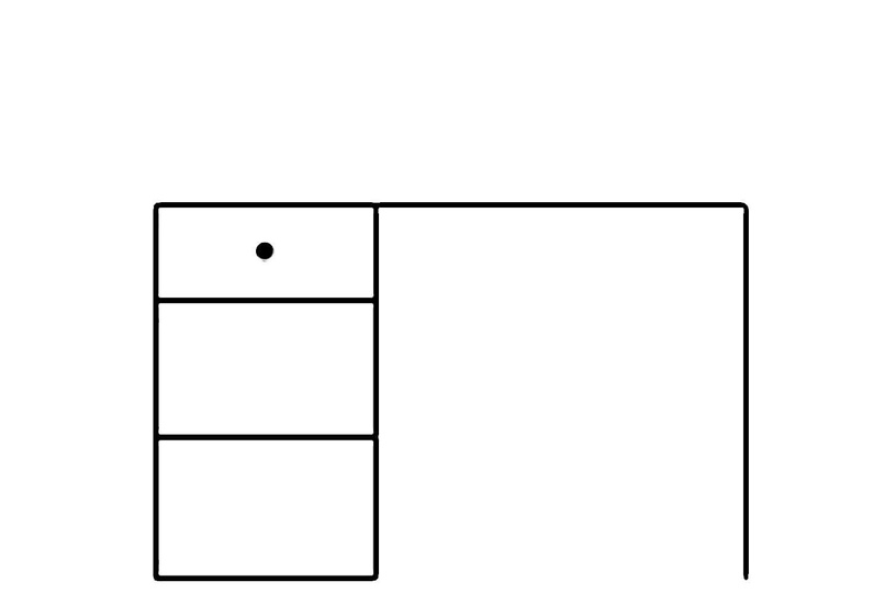 Rašomasis stalas Selene, 120 x 76 x 67 cm