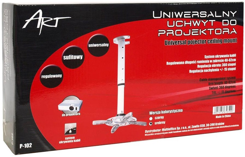 ART P-102 Projector Holder 40-62cm Silver