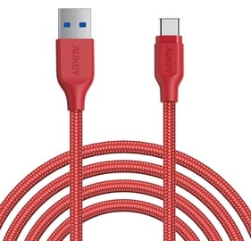 Aukey Nylon Cable USB A To USB Type-C CB-AC2/RTL 2m Red
