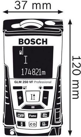 Bosch GLM 250 VF Laser Measure