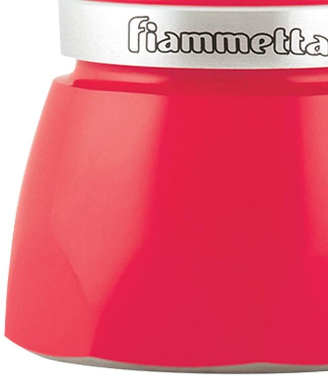 Bialetti Fiammetta Stovetop Espresso Maker 3 Cups Red