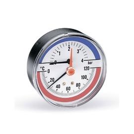 TERMOMANOMETRS 1/2 6BAR 80MM 120C (WATTS)