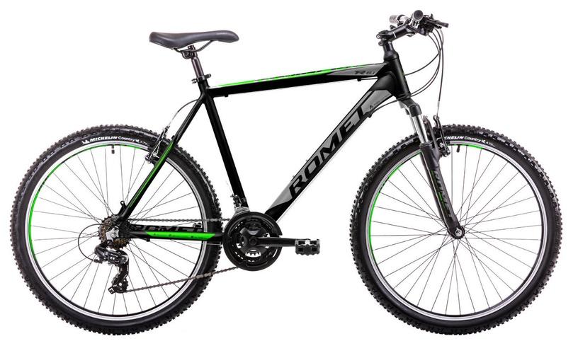 """Dviratis Romet Rambler R6.1 14"""" 26"""" Black Green 19"""