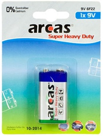 Arcas 9V/6LR61 Super Heavy Duty 1 pc(s)