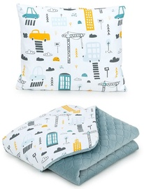 MamoTato Baby Blanket And Pillow Town Grey